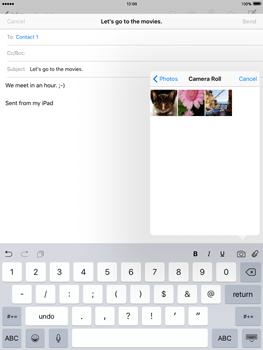 Apple iPad 2 iOS 9 - E-mail - Sending emails - Step 10