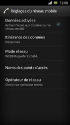 Sony Xperia U - Internet et roaming de données - Désactivation du roaming de données - Étape 8
