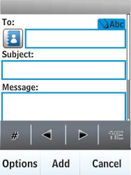 Nokia X3-02 - E-mail - Sending emails - Step 7
