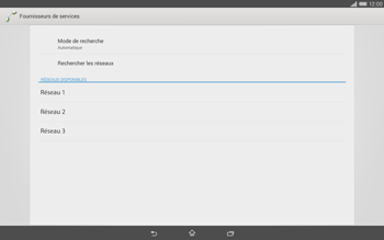 Sony Xperia Tablet Z2 LTE - Réseau - Sélection manuelle du réseau - Étape 8