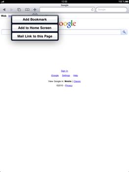 Apple iPad 2 - Internet - Internet browsing - Step 4