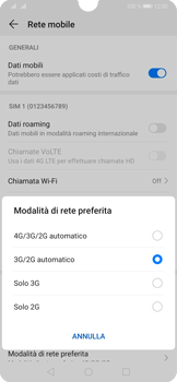 Huawei P30 - Rete - Come attivare la connessione di rete 4G - Fase 6