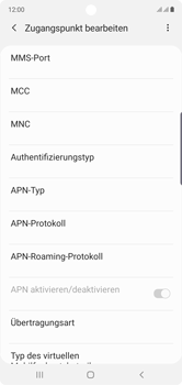 Samsung Galaxy Note 10 - MMS - Manuelle Konfiguration - Schritt 12