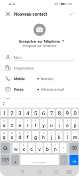 Huawei P Smart 2021 - Contact, Appels, SMS/MMS - Ajouter un contact - Étape 6