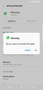 Samsung Galaxy S8 - Applications - How to uninstall an app - Step 7