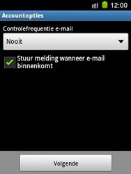 Samsung S5570 Galaxy Mini - E-mail - e-mail instellen: IMAP (aanbevolen) - Stap 17
