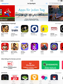 Apple iPad Mini 4 - iOS 10 - Apps - Herunterladen - Schritt 3