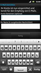 Sony Xperia U - E-Mail - Konto einrichten - 0 / 0