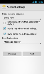 ZTE Blade III - E-mail - Manual configuration - Step 18