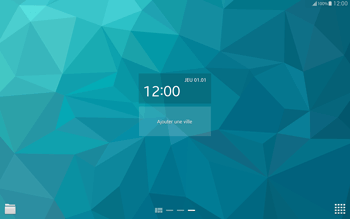 Samsung T805 Galaxy Tab S - Prise en main - Installation de widgets et d