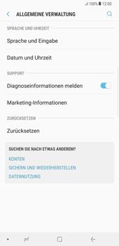 Samsung Galaxy S8 Plus - Android Oreo - Gerät - Zurücksetzen auf die Werkseinstellungen - Schritt 5