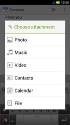 Acer Liquid E3 - E-mail - Sending emails - Step 11