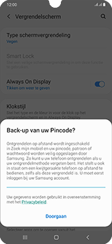 Samsung Galaxy A50 - Beveiliging - stel in of wijzig pincode voor je toestel - Stap 12
