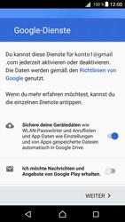 Sony Xperia Z5 Compact (E5823) - Android Nougat - Apps - Konto anlegen und einrichten - Schritt 18