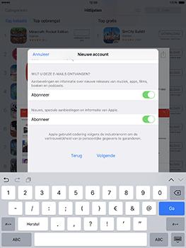 Apple ipad-pro-9-7-inch-met-ios10-model-a1674 - Applicaties - Account aanmaken - Stap 15