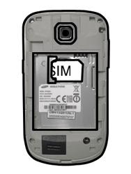 Samsung S5570 Galaxy Mini - SIM-Karte - Einlegen - Schritt 3