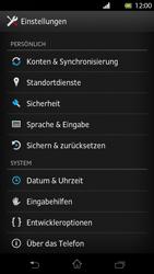 Sony Xperia T - Fehlerbehebung - Handy zurücksetzen - 6 / 10