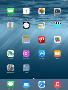 Apple iPad mini iOS 8 - Operazioni iniziali - personalizzazione della schermata iniziale - Fase 4