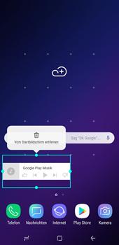 Samsung Galaxy S9 Plus - Startanleitung - Installieren von Widgets und Apps auf der Startseite - Schritt 9