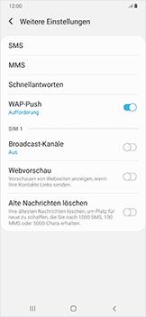 Samsung Galaxy A50 - SMS - Manuelle Konfiguration - Schritt 8
