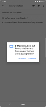 Sony Xperia 10 Plus - E-Mail - E-Mail versenden - Schritt 11