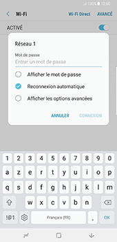 Samsung Galaxy Note 8 - Internet et connexion - Accéder au réseau Wi-Fi - Étape 8