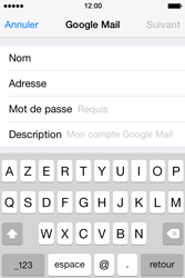 Apple iPhone 4S iOS 7 - E-mail - 032a. Email wizard - Gmail - Étape 8