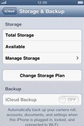 Apple iPhone 4S - Applications - Configuring the Apple iCloud Service - Step 10