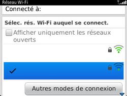 BlackBerry 9320 - Internet et connexion - Accéder au réseau Wi-Fi - Étape 8