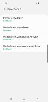 Samsung Galaxy S10e - Anrufe - Rufumleitungen setzen und löschen - 11 / 14
