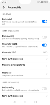 Huawei P20 - Android Pie - Internet e roaming dati - Disattivazione del roaming dati - Fase 6