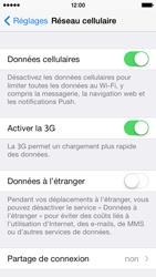 Apple iPhone 5s - Internet et roaming de données - Comment vérifier que la connexion des données est activée - Étape 5