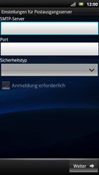 Sony Ericsson Xperia X10 - E-Mail - Konto einrichten - Schritt 11