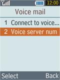 Samsung B2100 Xplorer - Voicemail - Manual configuration - Step 6