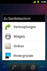 Alcatel OT-983 - Startanleitung - installieren von Widgets und Apps auf der Startseite - Schritt 3