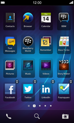 BlackBerry Z10 - Getting started - Personalising your Start screen - Step 3