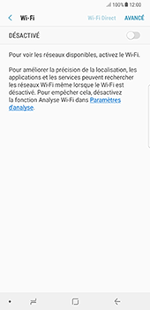 Samsung Galaxy Note 8 - Internet et connexion - Accéder au réseau Wi-Fi - Étape 6