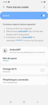 Samsung Galaxy A50 - Internet et connexion - Partager votre connexion en Wi-Fi - Étape 13