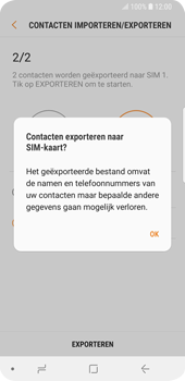 Samsung Galaxy S9 (SM-G960F) - Contacten en data - Contacten kopiëren van toestel naar SIM - Stap 12