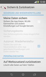 Sony Xperia E1 - Fehlerbehebung - Handy zurücksetzen - Schritt 7
