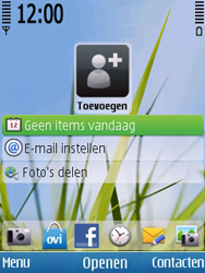 Nokia 6700 slide - E-mail - Handmatig instellen - Stap 1