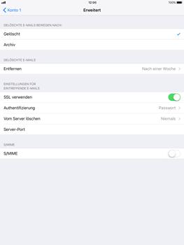 Apple iPad Air iOS 11 - E-Mail - Manuelle Konfiguration - Schritt 22