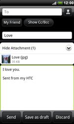 HTC S510e Desire S - E-mail - Sending emails - Step 11