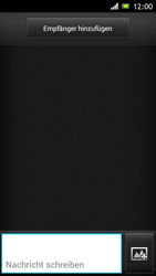 Sony Xperia J - MMS - Erstellen und senden - Schritt 6