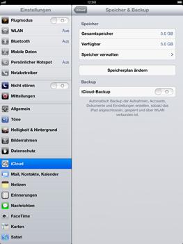 Apple iPad Retina iOS 7 - Apps - Konfigurieren des Apple iCloud-Dienstes - Schritt 12