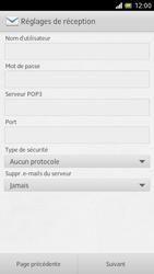 Sony LT28h Xperia ion - E-mail - Configuration manuelle - Étape 9