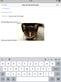 Apple iPad Pro 9.7 - iOS 10 - E-mail - e-mail versturen - Stap 11