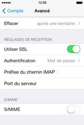 Apple iPhone 4S iOS 7 - E-mail - configuration manuelle - Étape 25