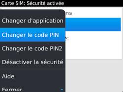 BlackBerry 9720 - Sécuriser votre mobile - Personnaliser le code PIN de votre carte SIM - Étape 8
