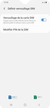 Samsung Galaxy A20e - Sécurité - modifier SIM PIN - Étape 8